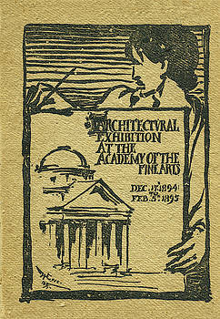 1894-95 Catalogue of the Architectural Exhibition at the Pennsylvania Academy of the Fine Arts by Wilson Eyre Jr