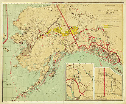 Toby McGuire - 1898 The Gold and Coal Fields of Alaska Map