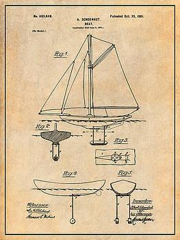 Greg Edwards - 1901 Schoenhut Sail Boat Patent Print Antique Paper