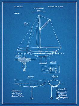 Greg Edwards - 1901 Schoenhut Sail Boat Patent Print Blueprint