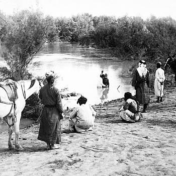 1903 Baptism at Jordan River by Munir Alawi