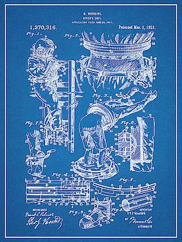 Greg Edwards - 1917 Harry Houdini Divers Suit Patent Print Blueprint