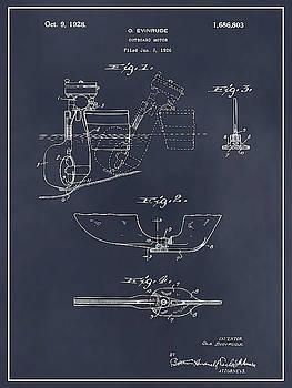Greg Edwards - 1928 Evinrude Outboard Motor Blackboard Patent Print