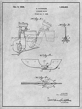 Greg Edwards - 1928 Evinrude Outboard Motor Gray Patent Print