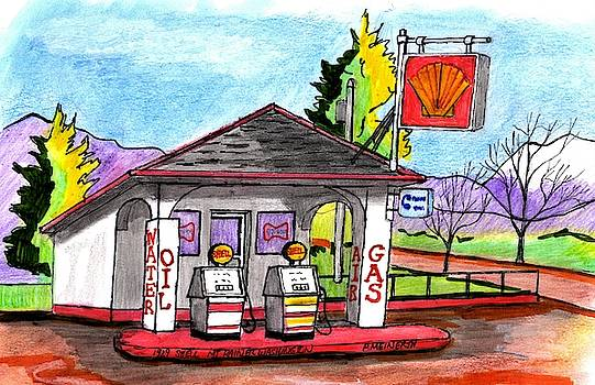 1929 Shell Station by Paul Meinerth