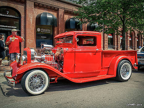 1930s Ford hot rod pickup  by Ken Morris