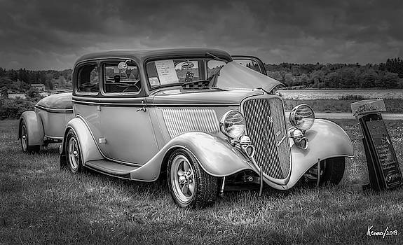 1933 Ford Tudor Sedan with trailer by Ken Morris