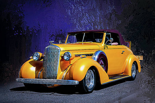 1936 Buick 8 Convertible Coupe with Rumble Seat  by John Bartelt