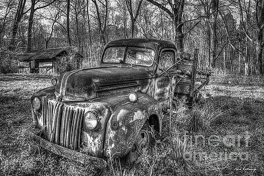 Reid Callaway - 1947 Ford Sunset B W Stakebed Pickup Truck Art