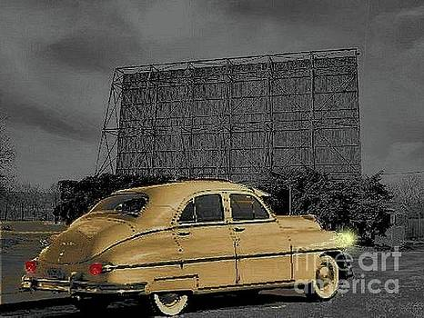 1949 Packard at Drive-In by Janette Boyd
