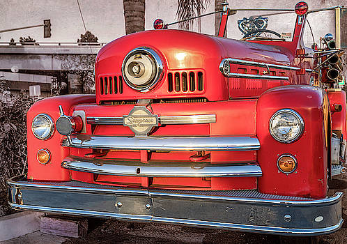 1952 Seagrave Fire Truck  by Gene Parks