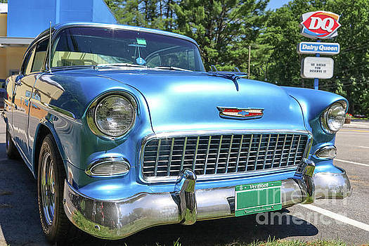 1955 Chevy Bel Air Blue Dairy Queen by Edward Fielding