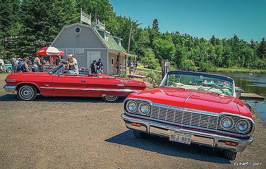 1964 and 1963 Chevrolet Impala convertibles by Ken Morris