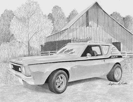 1970 AMC Gremlin X CLASSIC CAR ART PRINT by Stephen Rooks
