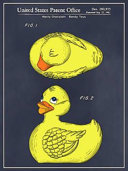 Greg Edwards - 1981 Rubber Ducky Blackboard Colorized Patent Print