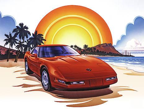 Garth Glazier - 1989 Corvette Sunset