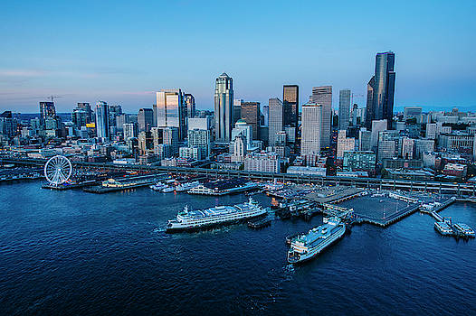 Aerial View Of A City, Seattle, King by Panoramic Images