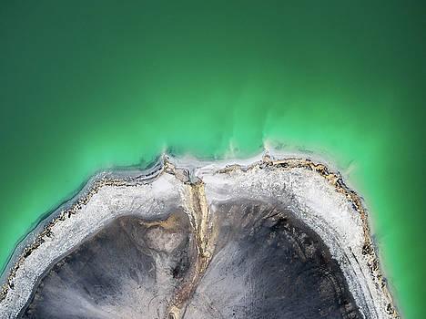Azure lake top view by Lukasz Szczepanski