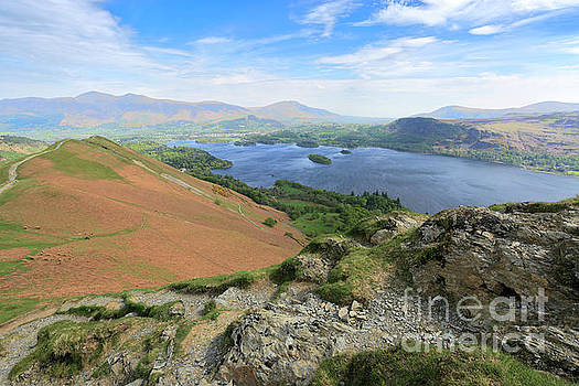 Catbells fell, Lake and Derwentwater, Lake District by Dave Porter