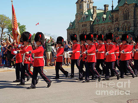 Changing of the Guard in Ottawa Ontario Canada by Louise Heusinkveld