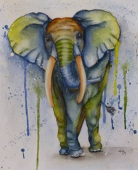 Color My World African Elephant  by Kelly Mills