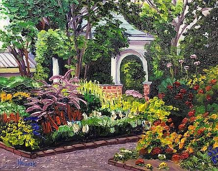 Grandmother's Garden Summer by Richard Nowak