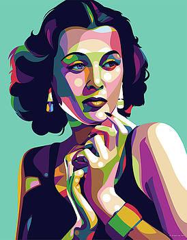Hedy Lamarr by Stars-on- Art