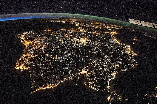 Iberian Peninsula at Night by Celestial Images