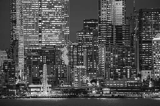 Illuminated City At Night, Seattle by Panoramic Images