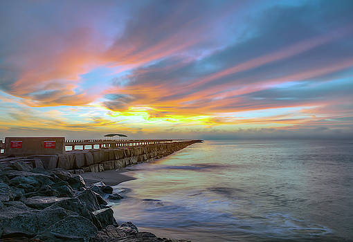 Jetty Sunrise Cabrillo Beach San Pedro California by R Scott Duncan