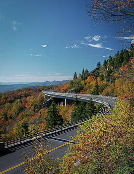 Linn Cove Viaduct - Blue Ridge Parkway by Mike Koenig