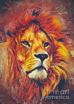 Lion Art by Justyna JBJart