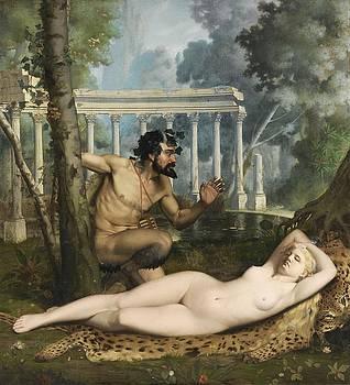 Pan And Venus by Adolphe-Alexandre Lesrel