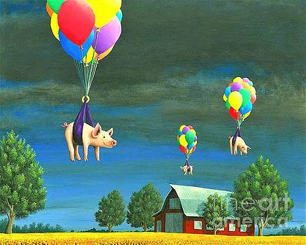 Pigs And Balloons by Chris Johnson