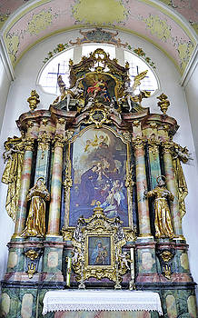Religious Artwork Within The Saint Peter and Paul Catholic Parish Church In Oberammergau Germany by Richard Rosenshein