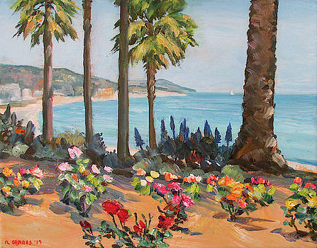 Roses by the Sea Laguna Beach by Robert Gerdes
