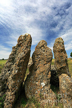 The Whispering Knights Stone Circle, Rollright Stones by Dave Porter
