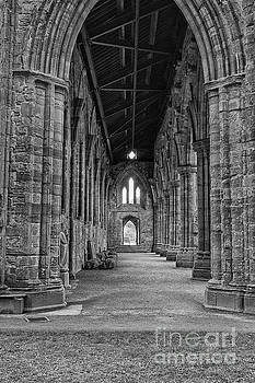 Patricia Hofmeester - Tintern Abbey in black and white