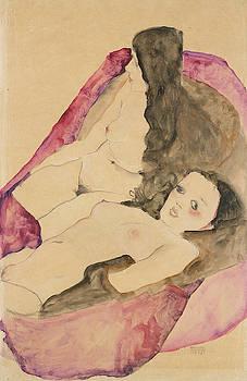 Egon Schiele - Two Reclining Nudes
