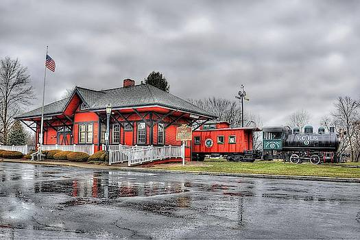 Valley City Train Depot - HDR by Jeff Burcher
