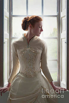 Victorian Woman Sitting At The Window by Lee Avison