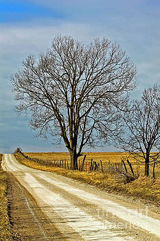 Missouri County Road in Winter  by Rick Grisolano Photography LLC