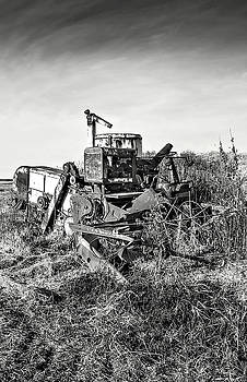 2013 Nov Old Combine No 6 - 1 BW-03 by Rick Grisolano Photography LLC