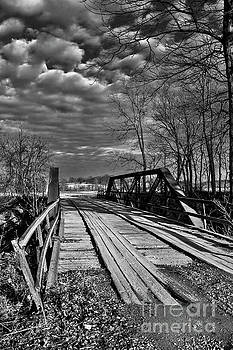 Old Bridge over Creek BW by Rick Grisolano Photography LLC