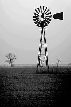 2014 March Windmill near Norborne BW by Rick Grisolano Photography LLC