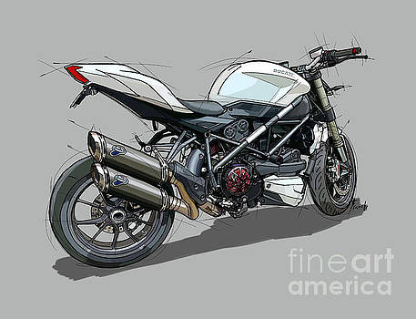 2015 Ducati Streetfighter by Drawspots Illustrations
