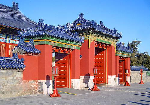 The beautiful Temple of Heaven, Beijing, China by Steve Clarke