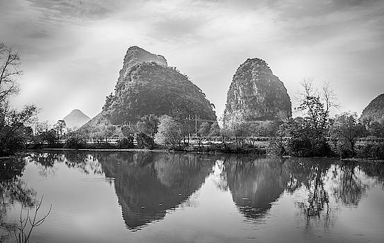 The mountains and countryside scenery in spring by Carl Ning