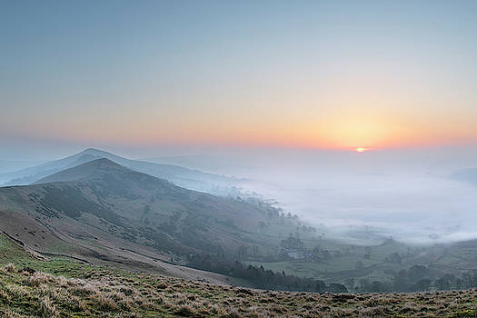 Stunning Winter sunrise landscape image of The Great Ridge in th by Matthew Gibson