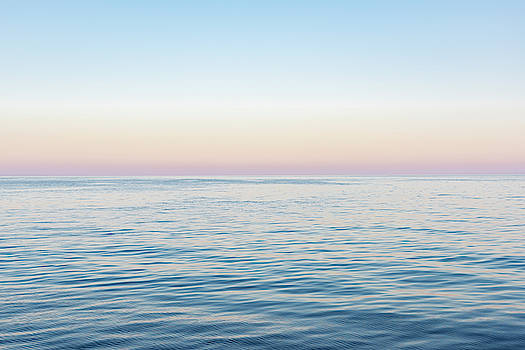 Abstract sunrise over water  by Zina Zinchik